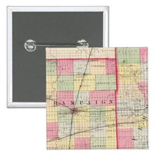 Champaign, Vermillion counties Pinback Button