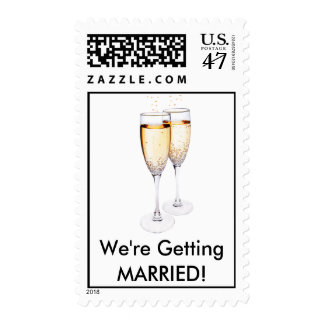 Champaign, We're Getting MARRIED! Stamp