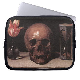 Champaigne - Still life with Skull Laptop Sleeve