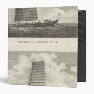 Champan, a Chinese Boat Boat of Formosa 3 Ring Binder