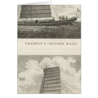 Champan, a Chinese Boat Boat of Formosa Greeting Card