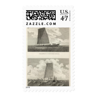 Champan, a Chinese Boat Boat of Formosa Postage Stamp