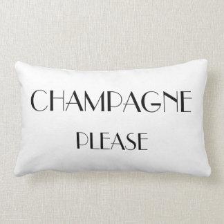Champán amortigua por favor almohada