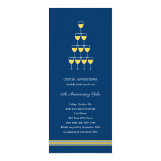 Champán apilado corporativo/el fiesta del negocio invitacion personalizada