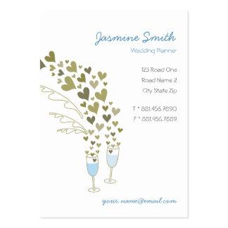 Champán azul anima la tarjeta del perfil de la tarjetas de negocios