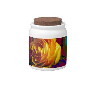 Champán color de rosa de oro burbujea los regalos tarro de cerámica para dulces