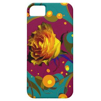 Champán color de rosa de oro burbujea los regalos funda para iPhone 5 barely there