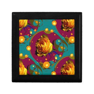 Champán color de rosa de oro burbujea los regalos joyero cuadrado pequeño