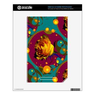 Champán color de rosa de oro burbujea los regalos calcomanías para NOOK color