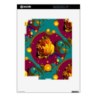 Champán color de rosa de oro burbujea los regalos iPad 2 calcomanías