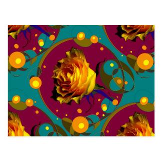 Champán color de rosa de oro burbujea los regalos tarjetas postales