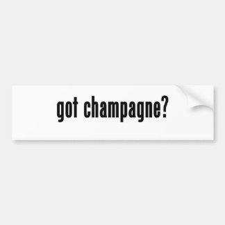 ¿champán conseguido? etiqueta de parachoque