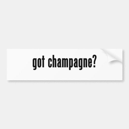 ¿champán conseguido? pegatina para auto