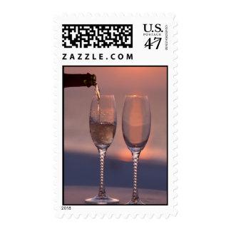 Champán de colada sellos postales