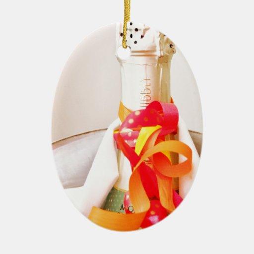 Champán de refrigeración adorno ovalado de cerámica