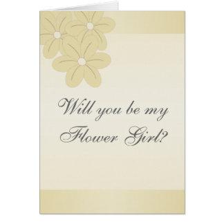Champán florece la petición del florista tarjeta de felicitación