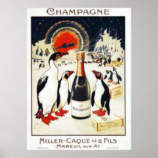 Champán Miller-Caqu y poster de Fils
