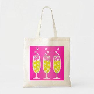 Champán - rosa bolsa tela barata