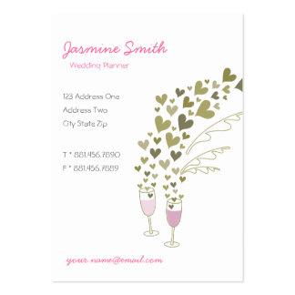 Champán rosado anima la tarjeta del perfil de la tarjeta de visita