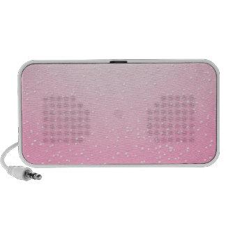 Champán rosado con arte minúsculo del fondo de las iPhone altavoz