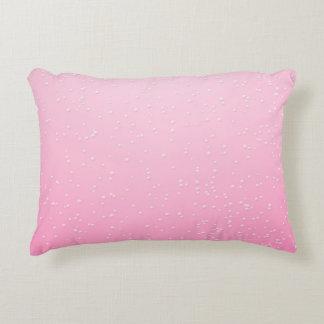 Champán rosado con arte minúsculo del fondo de las cojín