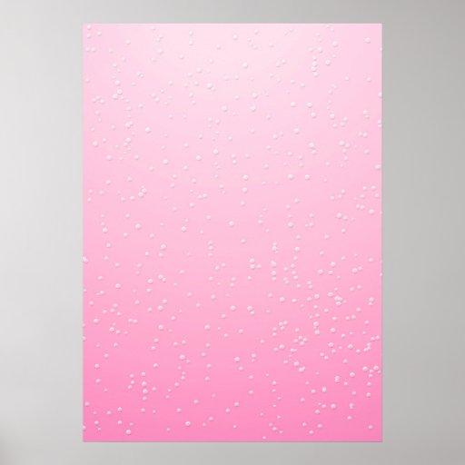 Champán rosado con arte minúsculo del fondo de las poster