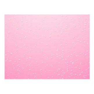 Champán rosado con arte minúsculo del fondo de las postal