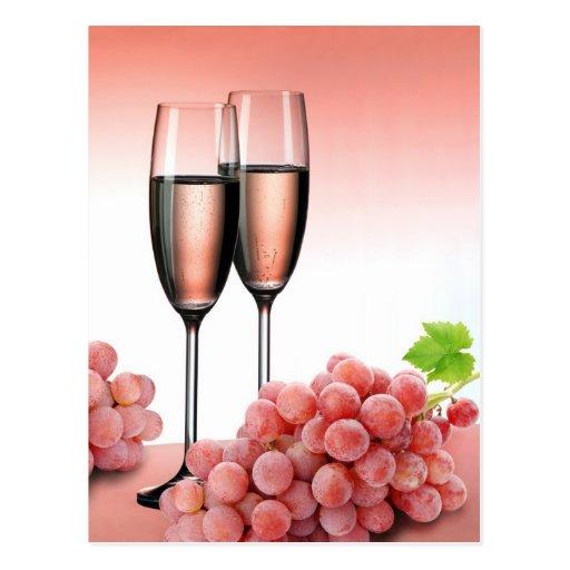 Champán rosado postales