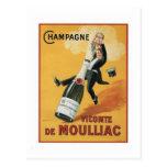 Champán Viconte De Mouillac Tarjeta Postal