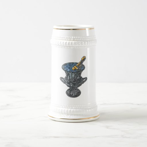 Champán y arte del cubo taza de café