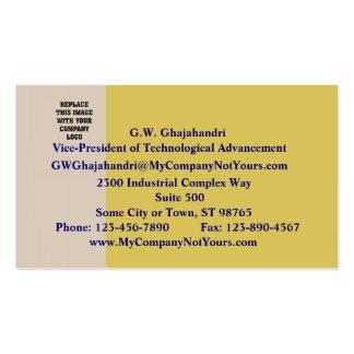 Champán y tarjeta de visita del vino blanco