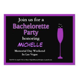 "Champange Bachelorette Party Invitation 5"" X 7"" Invitation Card"