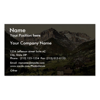Champery general view Valais Alps of Switzerla Business Card Templates
