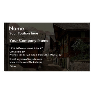 Champery Principal Street Valais Alps of Switz Business Cards