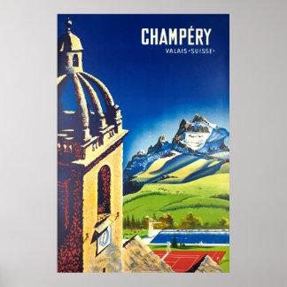 Champéry, Valais,Suisse,Ski Poster