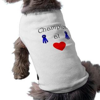 Champion at heart pet t-shirt
