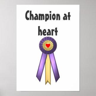 Champion at Heart (Rosette) Poster