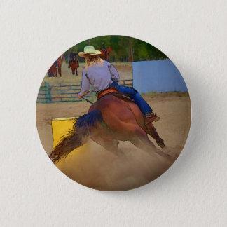 Champion Barrel Racer Pinback Button