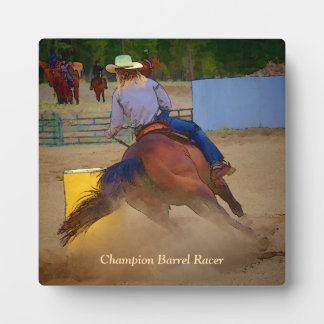 Champion Barrel Racer Plaque