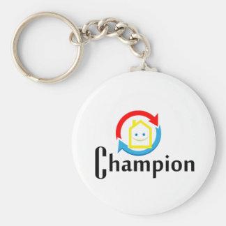Champion Basic Round Button Keychain