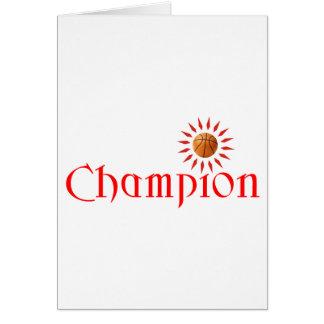 CHAMPION - BASKETBALL CARD