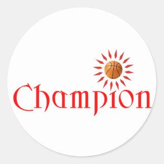CHAMPION - BASKETBALL CLASSIC ROUND STICKER