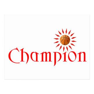 CHAMPION - BASKETBALL POSTCARD