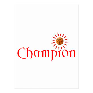 CHAMPION - BASKETBALL POSTCARD