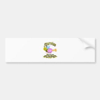 champion bottom burper bumper sticker