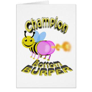 champion bottom burper card