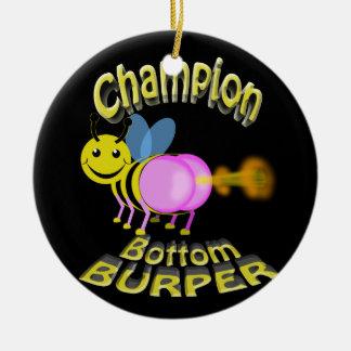 champion bottom burper ceramic ornament
