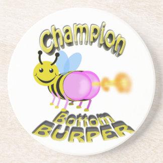 champion bottom burper coaster
