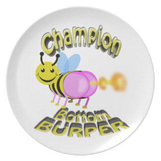 champion bottom burper melamine plate