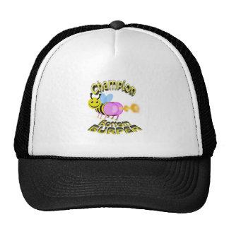 champion bottom burper trucker hat